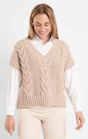 Boomerang - LUN BOOMWOOL CABLE VEST - Putty