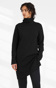 Boomerang - LUNEX BOOMWOOL POLO DRESS - Antracite
