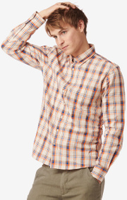 SHIRT CHECK COTTON TA. FIT B.D.