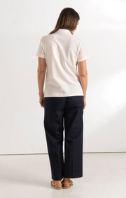 Boomerang - LISEN PIQUET SHIRT - White