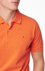 Boomerang - JOE ORGANIC COTTON POLO PIQUE  - Satsuma