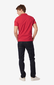 Boomerang - JOE ORGANIC COTTON POLO PIQUE  - Raspberry red