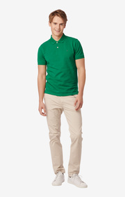 Boomerang - JOE ORGANIC COTTON POLO PIQUE  - Racing green