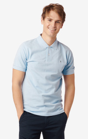 JOE ORGANIC COTTON S.S. POLO PIQUE  Cloud blue