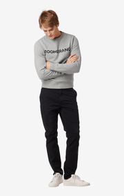 PHILIP CREW NECK SWEATER Grey melange