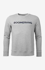 Boomerang - Philip crew neck sweater - Grey melange