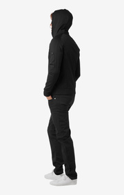 ANTON TECH FULL ZIP HOODIE Black