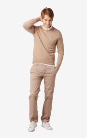 MAX O-NECK SWEATER Beige
