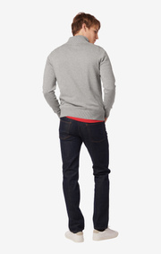 FOREMAN HALF ZIP SWEATER  Lt grey melange