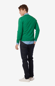SANDLER SOFT ORG. COTTON O-NECK SWEATER