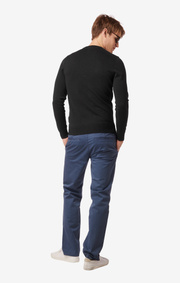 SANDLER SOFT ORG. COTTON O-NECK SWEATER Black