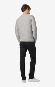 UNO UNEAVEN COTTON CREW SWEATER Grey melange