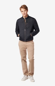 REBBE QUILTED JACKET Night sky