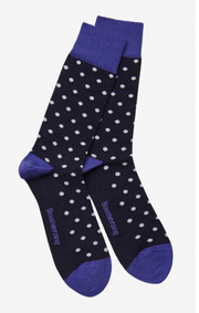MALMÖ DOTTED SOCK Pacific blue