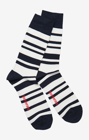 Boomerang - Malmö striped sock night sky - Night sky