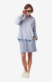 ASTRID BLUE SHIRT Bright nautic