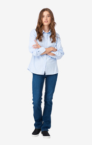 LILLY SOLID ORGANIC OXFORD SHIRT