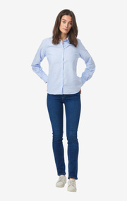 Boomerang - LILLY SOLID ORGANIC OXFORD SHIRT - Pale blue