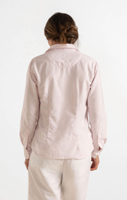 Boomerang - LILLY STRIPED ORGANIC OXFORD SHIRT - Powder pink