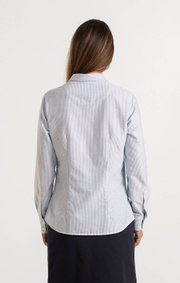 Boomerang - LILLY STRIPED ORGANIC OXFORD SHIRT - Ice blue