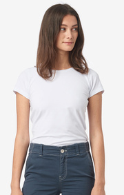 Boomerang - JEANETTE ORGANIC COTTON BASIC T - White