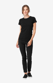 Boomerang - JEANETTE ORGANIC COTTON BASIC T - Black