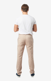 Boomerang - STEVE COTTON SATIN CHINO - Lt beige