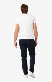 Boomerang - STEVE COTTON SATIN CHINO - Midnight blue