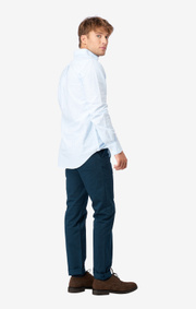 Boomerang - NEW OXFORD STRIPE TAILORED FIT BD - Ice blue