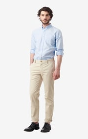 Boomerang - NEW OXFORD SOLID TAILORED FIT BD - Ice blue