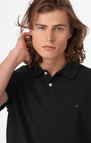 Boomerang - JOE ORGANIC COTTON S.S. POLO PIQUE - Black