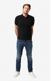 JOE ORGANIC COTTON S.S. POLO PIQUE Black