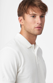 Boomerang - JOE ORGANIC COTTON S.S. POLO PIQUE - White