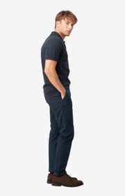 Boomerang - JOE ORGANIC COTTON S.S. POLO PIQUE - Blackish navy