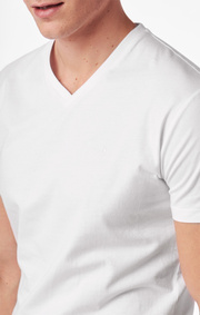 Boomerang - Basic v-neck t-shirt  - White