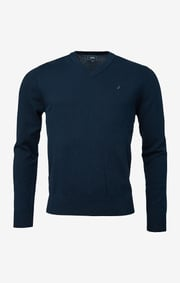 Boomerang - ERLAND V-NECK SWEATER - Night sky