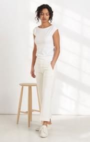 Boomerang - Frejus piqué top - White