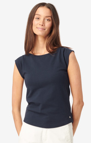 Boomerang - FREJUS PIQUÉ TOP - Midnight blue