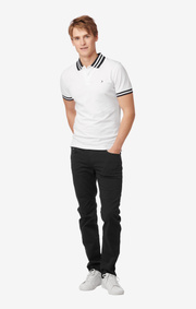 Boomerang - JUSTIN STRETCH POLO PIQUE - White