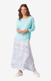 Boomerang - ANNAKATARINA SWEATER - Abaco turquoise