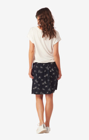 Boomerang - Evalena printed jersey skirt - Midnight blue