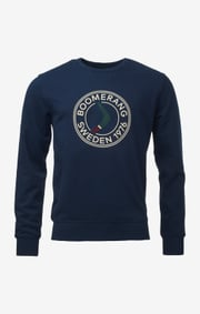 Boomerang - BOOMERANG SWEAT CREW NECK - Blue steel