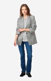 Checked blazer amy