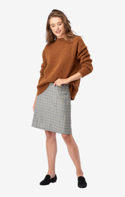 CHECKED WOOL SKIRT VERA