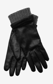 Leather glove hanne black