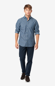 INDIGO BASKET SHIRT REGULAR FIT HIDDEN BD SPREAD