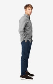HEATHER WINDOW CHECK SHIRT SLIM FIT BD