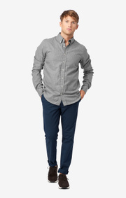 Boomerang - HEATHER WINDOW CHECK SHIRT SLIM FIT BD - Grey melange