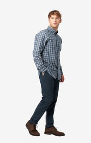 Heather check shirt regular fit bd
