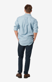 Chambray shirt slim fit bd
